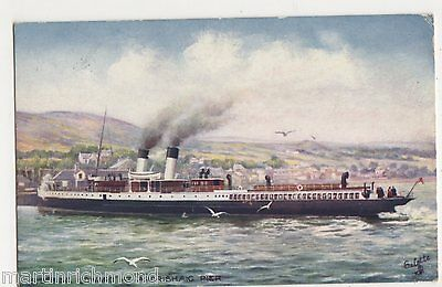 S.S. King Edward at Ardrishaig Pier, Tuck 7547 Art Postcard, B554