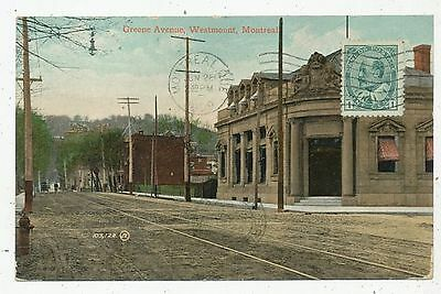 Cpa Post Card Canada Montreal Green Avenue Westmount 1909