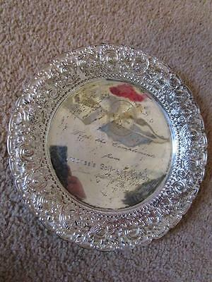 indonesia golf association silver tray plate  jakarta 1988