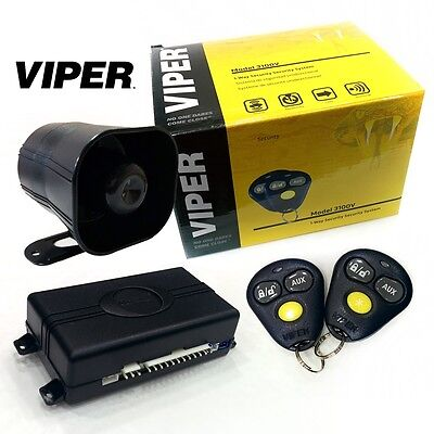 VIPER 3100V One Way Car Security Alarm System W 2 Remotes Shock Sensor Siren NEW