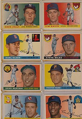 Topps 1955 Baseball Cards-Select from a list
