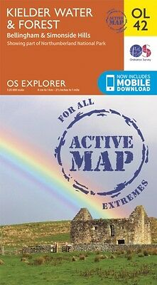 OS Explorer ACTIVE OL42 Kielder Water & Forest (OS Explorer Map Active) (Map), .