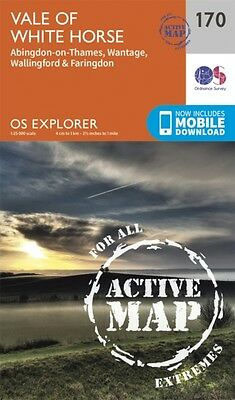 OS Explorer Map Active (170) Abingdon, Wantage and Vale of White Horse (OS Expl.