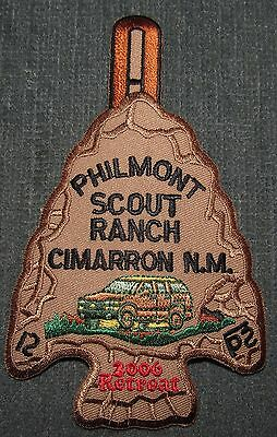 Philmont Scout Ranch 2006 Retreat Arrowhead Patch Plastic Back Twill Right MINT!
