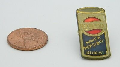 "Vintage Late 1970's Early 1980's ""Have a Pepsi Day"" Cola Can Hat Lapel Pin"