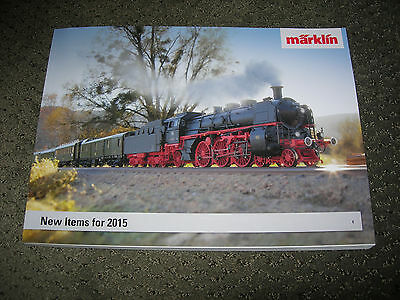 Marklin 2015 New Items 1, HO, Z Gauge Catalog 240 Pages in English & German