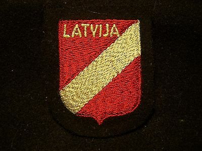 Very Rare  Original Wwii  German  Latvija Volunteer Sleeve Shield