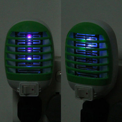 Electric Socket LED Mosquito Fly Bug Insect Trap Killer Zapper Night Lights Lamp