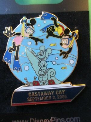 Disney DCL - September 2, 2005 - Castaway Cay MICKEY & MINNIE SNORKELING LE PIN