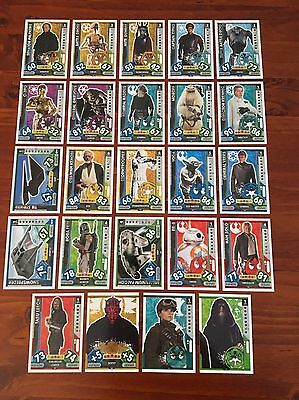 Star Wars - Force Attax 2017 (TOPPS collector cards) 24 x Cards Mixed Lot #12.