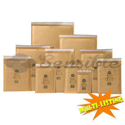 Genuine Jiffy Airkraft Gold Mail Postal Bubble Padded Envelopes Bags *All Sizes*