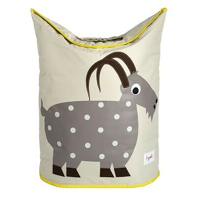 3 Sprouts Laundry Hamper Goat - Grey