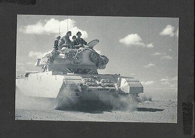 Nostalgia Postcard British Tank Patrol out in the Desert Suez Canal 1951