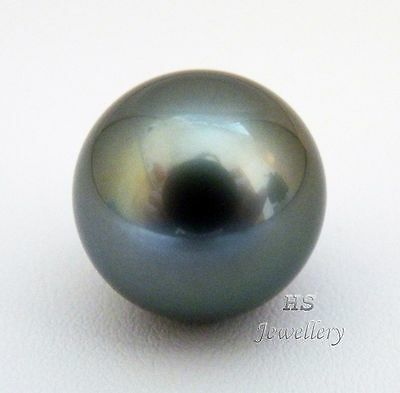 HS Rare Huge Round 15.45mm Loose Tahitian South Sea Cultured Pearl AAA Grading