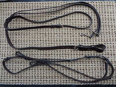 TORY English Horse GERMAN MARTINGALE  w Center Buckle Reins ~ Never Been Used