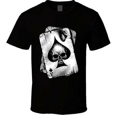 Newest Fashion Women/Men Ace of Spades Skull Funny 3D Print Casual T-Shirt 2273