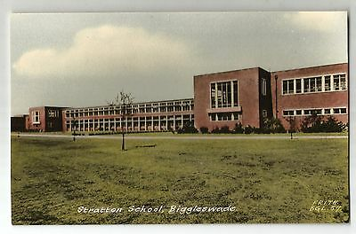 re england bedfordshire postcard english Biggleswade stratton school