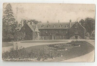 re england leicestershire postcard english leicester langley priory