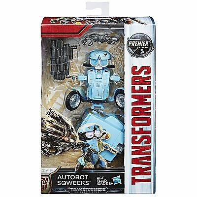 Transformers The Last Knight Premier Movie Deluxe Sqweeks Action Figure NEW