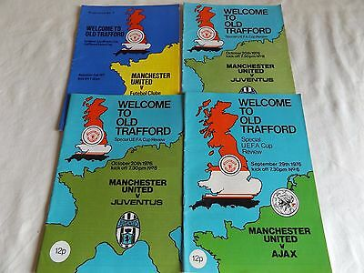 Manchester United 1976/1977   European  Home Programmes