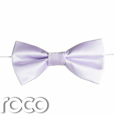 Boys Lilac Elasticated Dickie Bow Tie Page Boy Wedding Prom Dickie Bows