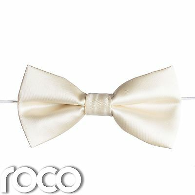 Boys Ivory Elasticated Dickie Bow Tie Page Boy Wedding Prom Dickie Bows