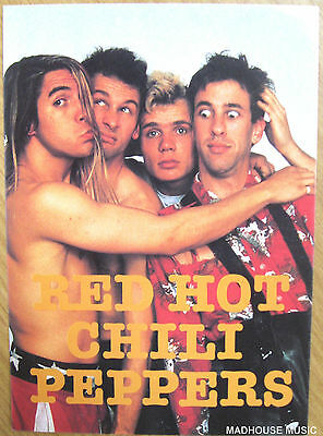RED HOT CHILI PEPPERS Postcard 1994 OLIVER BOOKS UK original Licenced Mint