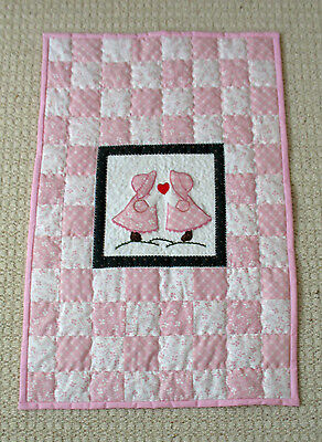 Hand made Laura Ashley Baby cot quilt
