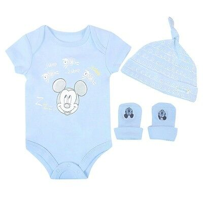 Disney 3 Piece Gift Set, Blue, 0-6 Months