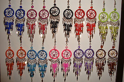 Peruvian Alpaca Silver& Dreamcatcher Earrings~x10~Pairs~New Colours~uk seller~