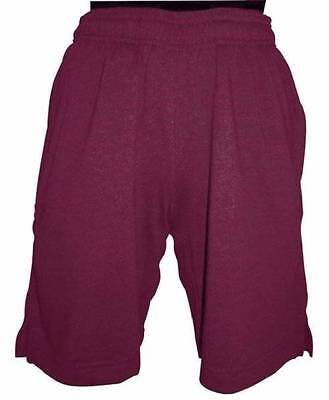 Unisex Boys + Girls Rugby Shorts Maroon Color Size 6 + 12 + 14 New