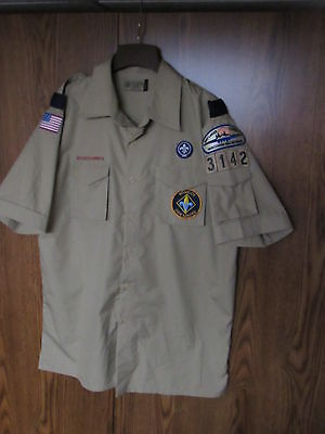 Official Boy Scouts Uniform Size adult men's Large tan BSA modern style