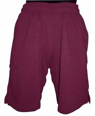 Unisex Youths Boys + Girls Rugby Maroon Shorts Size M + L New
