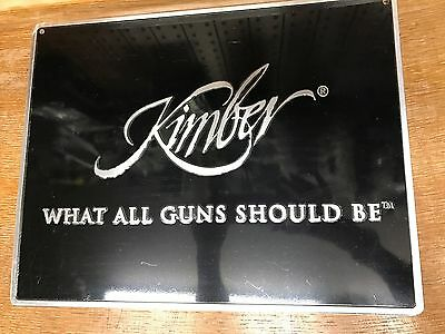 Kimber What all guns should be Metal sign-Worldwide ship  (Rare)