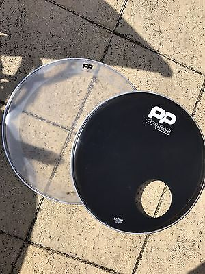 "22"" Pp Drums Remo Bass Drum Head/skin Set"