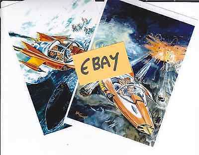 2 Photo Art Cards - Gerry Anderson's SUPERCAR - Clearance Line - Only £1.25