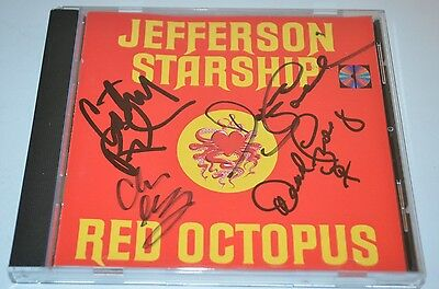 JEFFERSON STARSHIP Red Octopus SIGNED AUTOGRAPHED CD Psychedelic Classic Rock