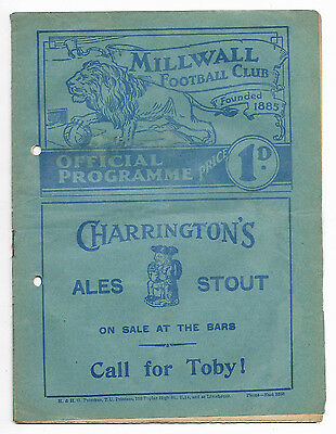 1938/39 Division 2 - MILLWALL v. BURNLEY