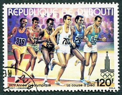 DJIBOUTI 1979 120f SG772 used NG Olympic Games Moscow Running d #W29