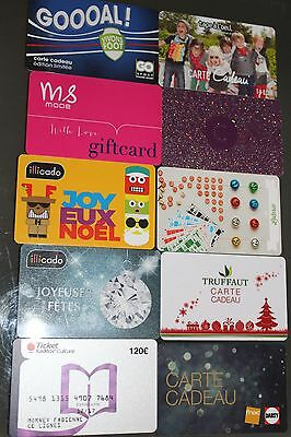 CARTE CADEAU  GIFT CARD -  Lot 10 cartes   (FRANCE)