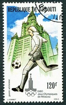 DJIBOUTI 1980 120f SG786 used NG Olympic Games Moscow 2nd issue Football b #W29