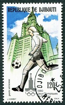 DJIBOUTI 1980 120f SG786 used NG Olympic Games Moscow 2nd issue Football c #W29