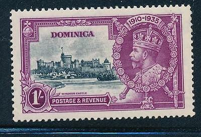 Dominica 1935 Silver Jubilee Vr-Dot By Flagstaff Sg 95H Vf Mint