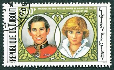 DJIBOUTI 1981 180f SG816 used FG Wedding of Prince of Wales b #W29