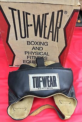 VINTAGE CIRCA 1963 TUF-WEAR Boxing MMA Headgear With Original Box! Check Pics!