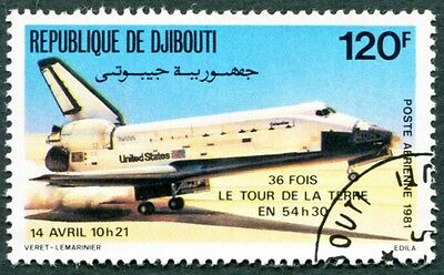 DJIBOUTI 1981 120f SG825 used NG Space Shuttle AIRMAIL STAMP f #W29
