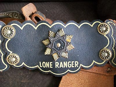 Vintage Original 1950's Lone Ranger Double Leather Holster With Bullets