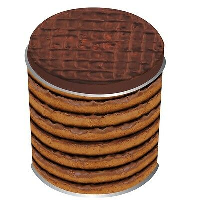 Chocolate Digestive Small Biscuit Tin, small metal tin. Food Storage