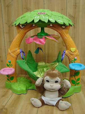 Fisher Price Snugglekins Plush Monkey Tree House Musical Nursery With Lights