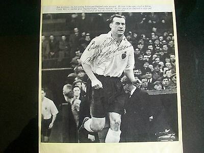 BOLTON WANDERERS + ENGLAND player   1950s NAT LOFTHOUSE   signed